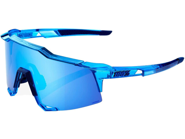100% Speedcraft HD Multilayer/Hiper Glasses Tall polished transl. crystal blue
